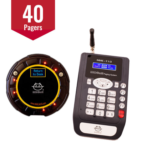 40-Pager Guest Paging System with Messages