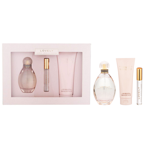 Sarah Jessica Parker 3pc Lovely 100ml EDP + 200ml BL + 10ml Rollerball (2021) (W)