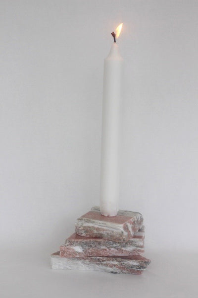 Pale Pink Rose Marble Candle Holder