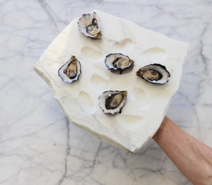 White Marble Oyster Tray