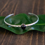 Silver and Stone Bangles - Hebel Design