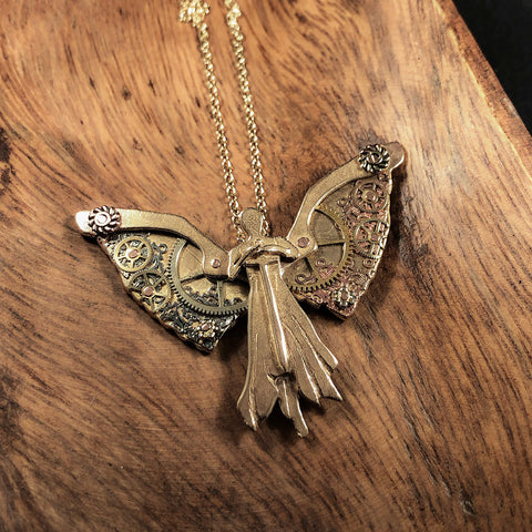 Tessa's Clockwork Angel Necklace - Hebel Design
