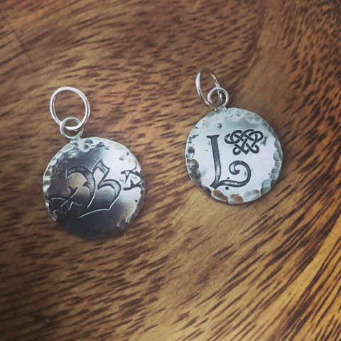 Blackthorn and Lightwood silver charm