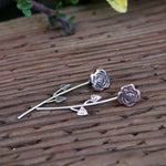Enchanted Rose Jacket Earrings - Hebel Design