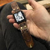 Handcrafted Leather iWatch band - Hebel Design