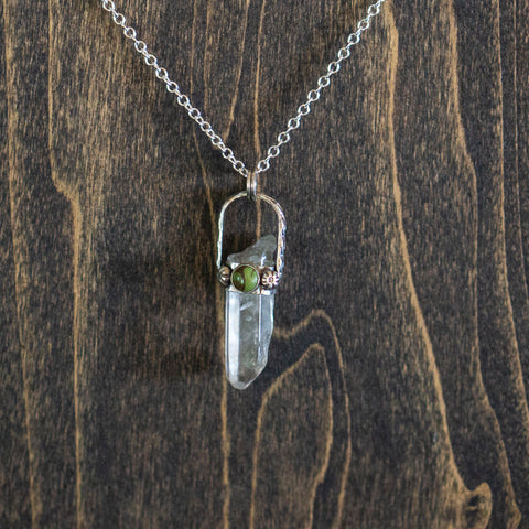 Quartz Crystal Necklace - Hebel Design