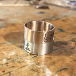 Distressed Runes Ring - Hebel Design