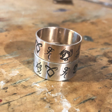 Distressed Runes Ring