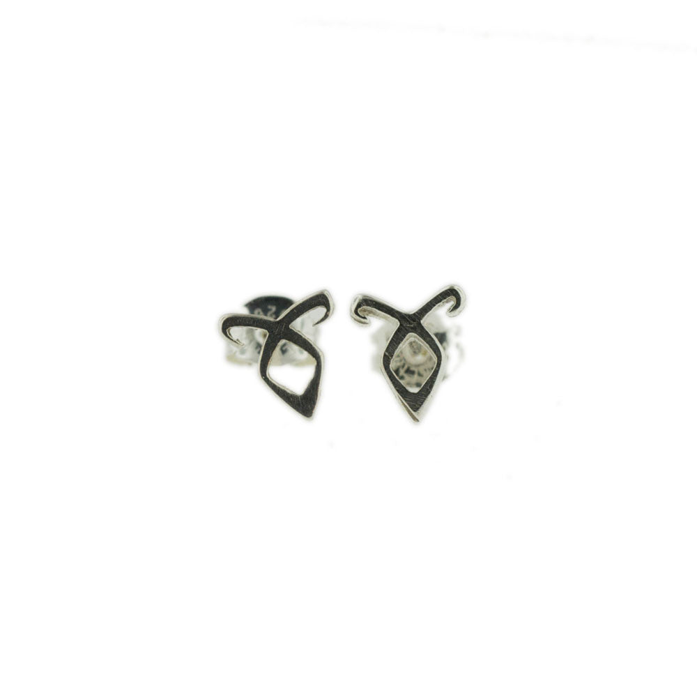 Angelic Power Rune Tiny Earrings - Hebel Design - 1