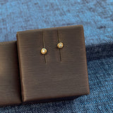 Yellow Gold Pebble Earrings