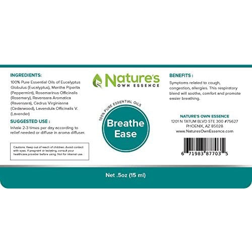 Nature's Own Essence Breathe Blend Essential Oil - Nature's Own Essence