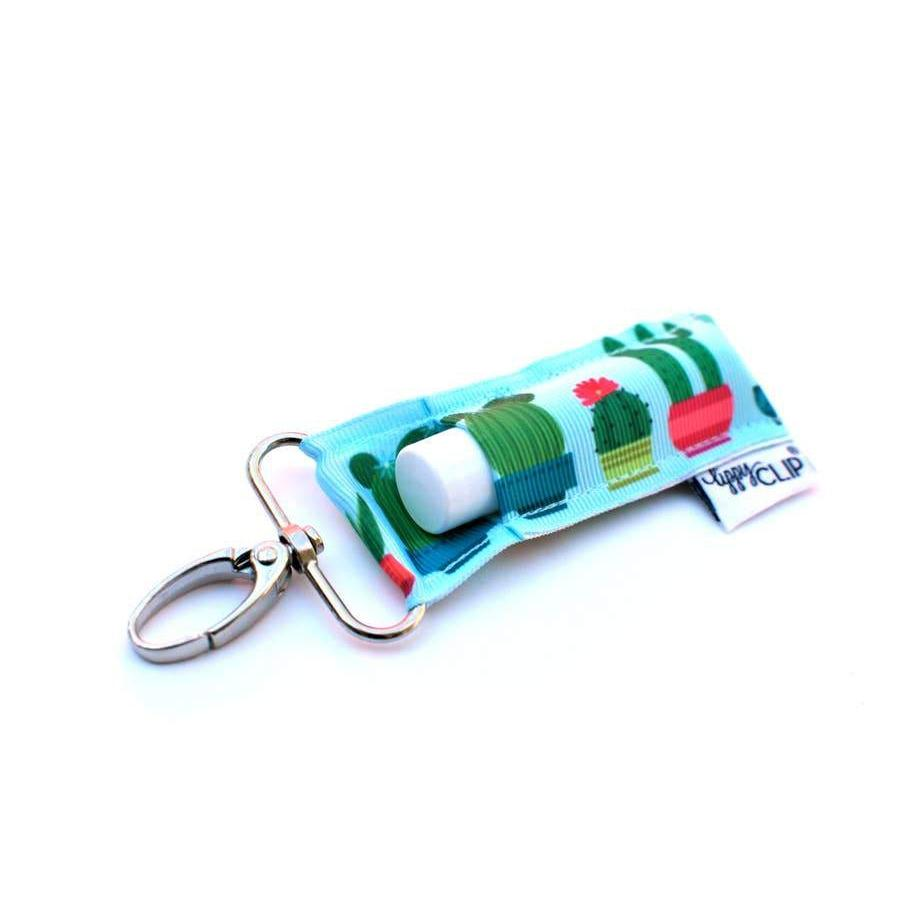 LippyClip® Lip Balm Holder Aqua Cactus LippyClip Lip Balm Holder or Keychain - Nature's Own Essence