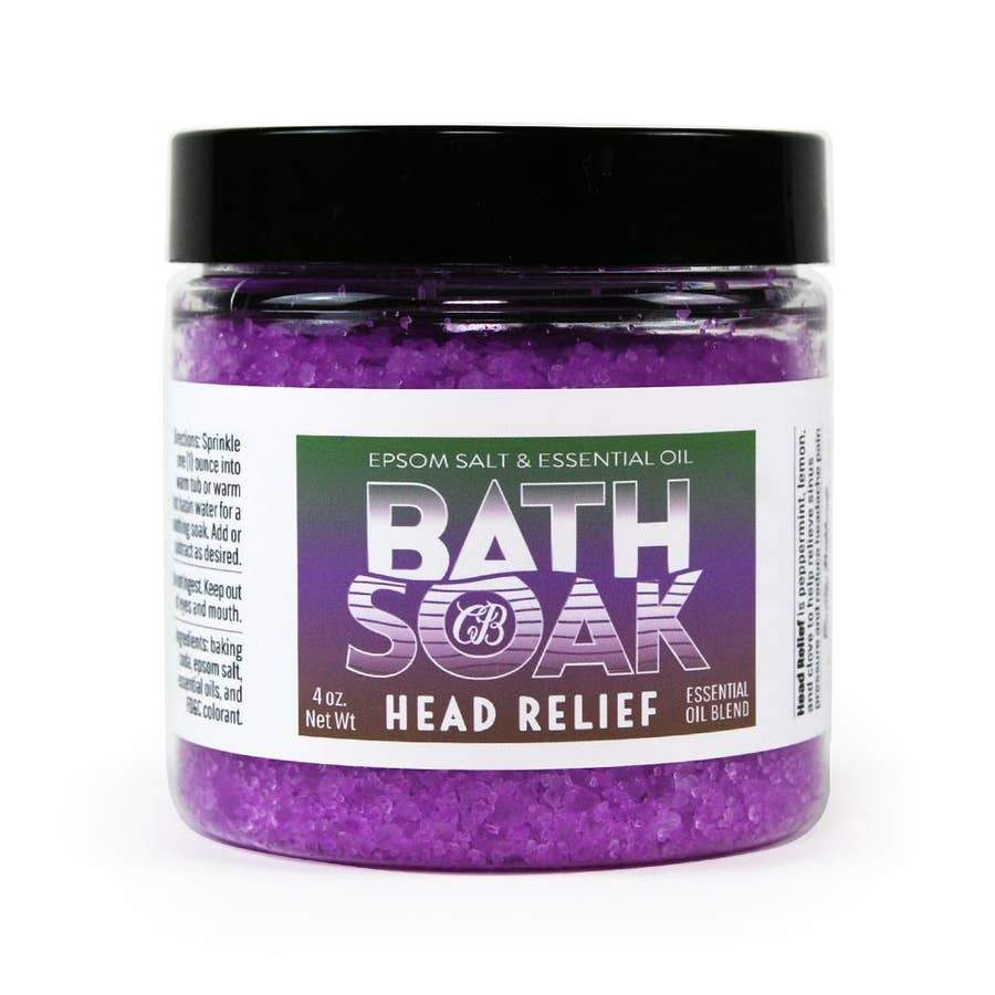 Country Bathhouse Bath Soak - Head Relief - Nature's Own Essence