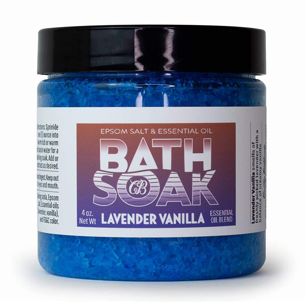 Country Bathhouse Bath Soak - Lavender Vanilla - Nature's Own Essence