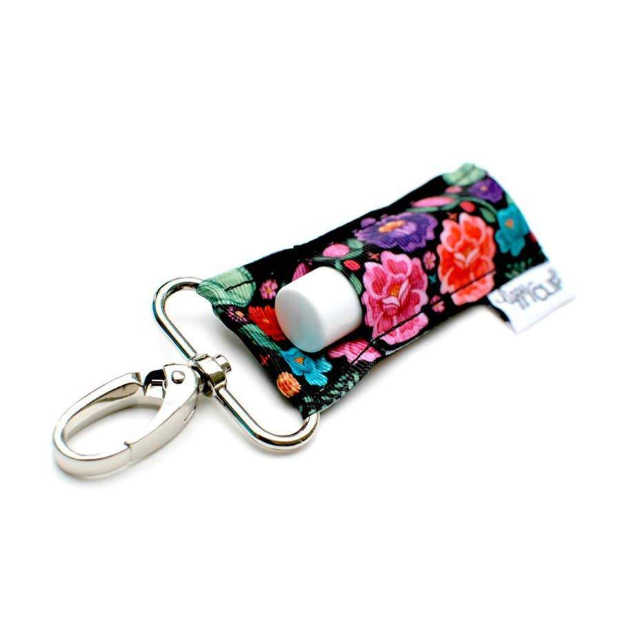 LippyClip® Lip Balm Holder Black Bold Floral LippyClip Lip Balm Holder - Nature's Own Essence