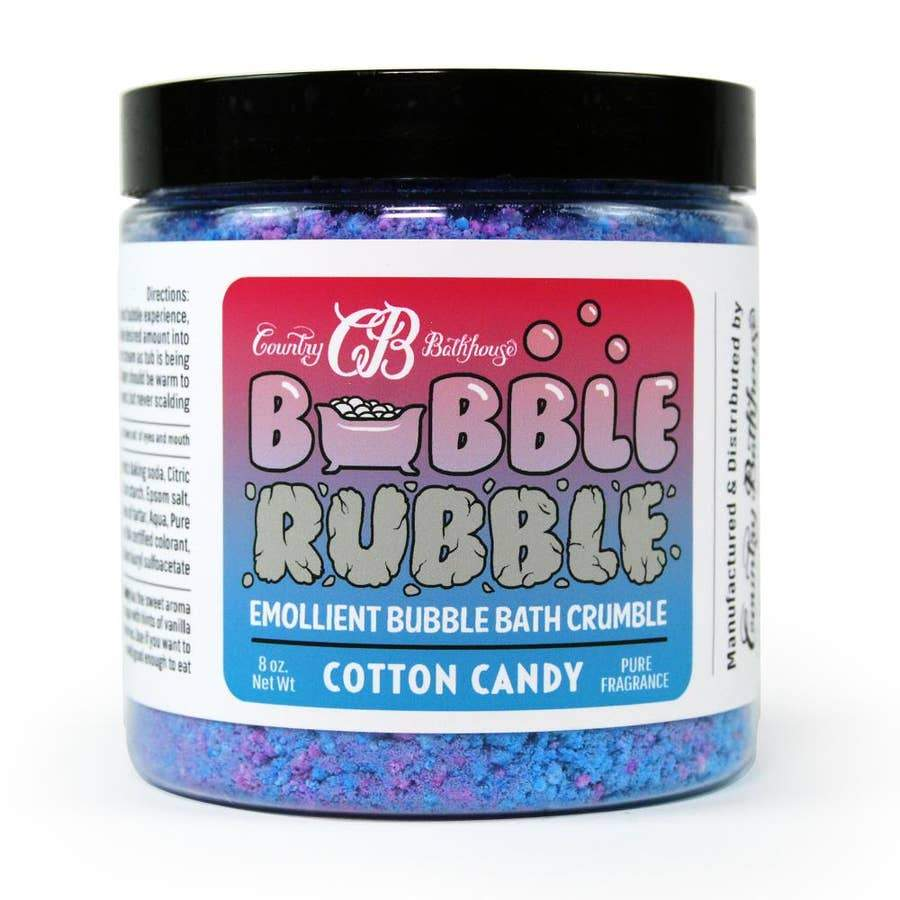 Country Bathhouse Bubble Rubble - Cotton Candy - Nature's Own Essence