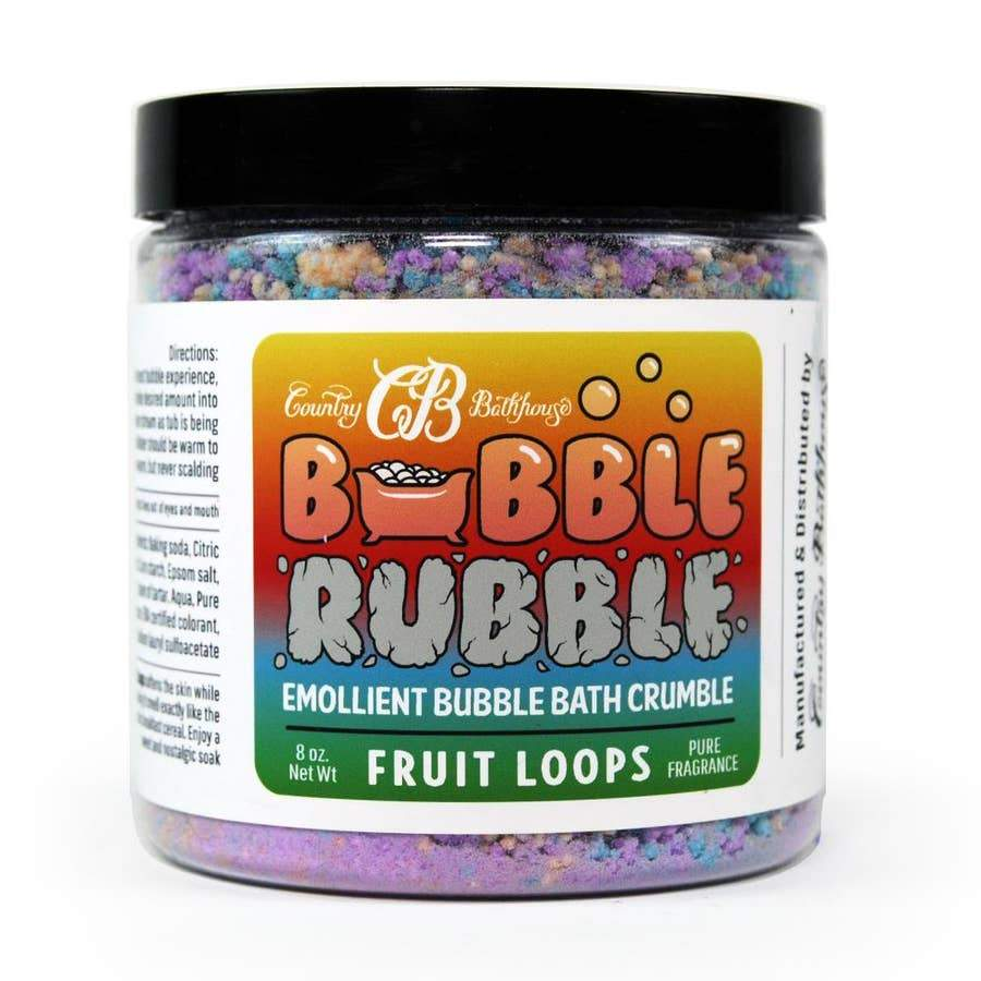 Country Bathhouse Bubble Rubble - Fruit Loops - Nature's Own Essence
