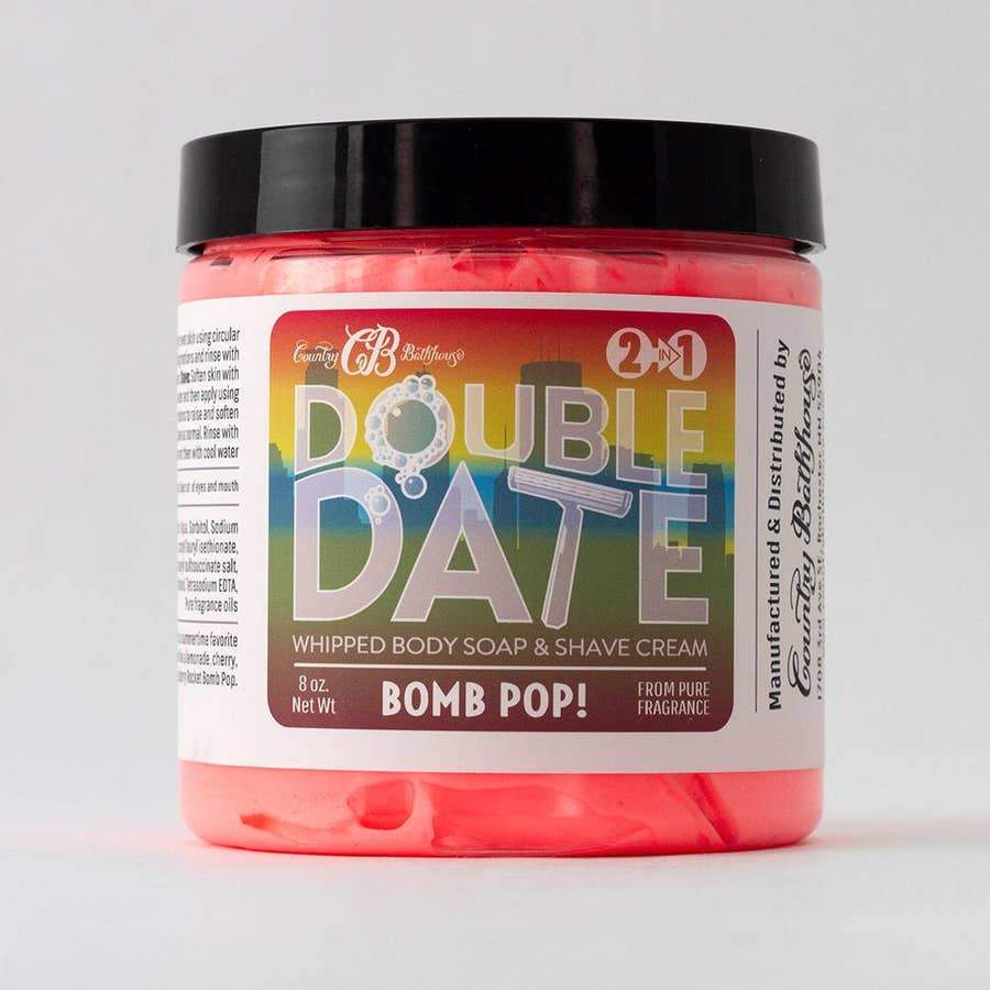 Country Bathhouse Double Date Whipped Soap and Shave Cream - Bomb Pop! - Nature's Own Essence