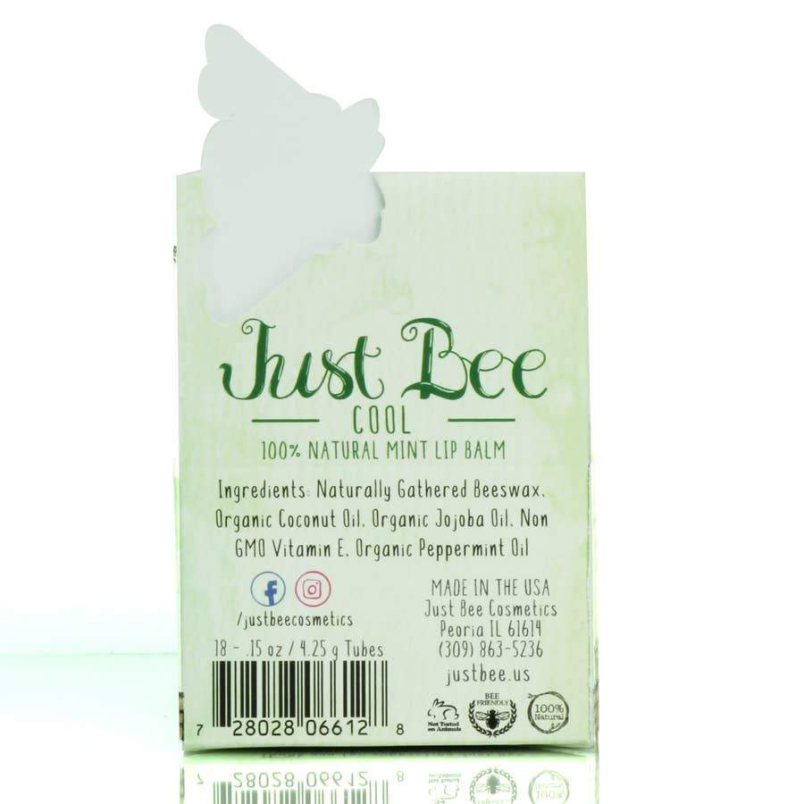 Just Bee Cosmetics Just Bee Cool Lip Balm - Mint - Nature's Own Essence