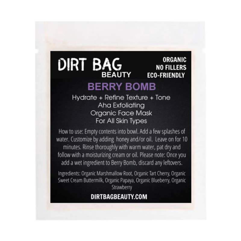 Dirt Bag® Beauty Organic Facial Mask- Berry Bomb - Nature's Own Essence
