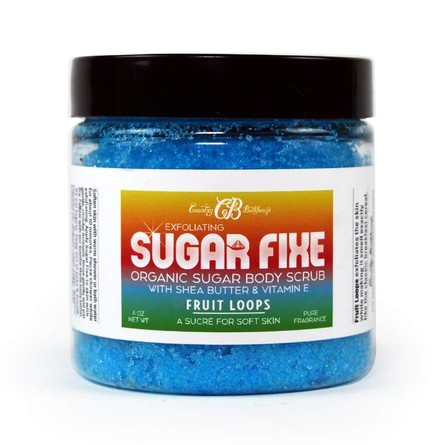 Country Bathhouse Sugar Fixe Body Scrub - Fruit Loops - Nature's Own Essence