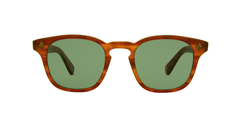 Garrett Leight Ace Honey Amber Tort/Green 47