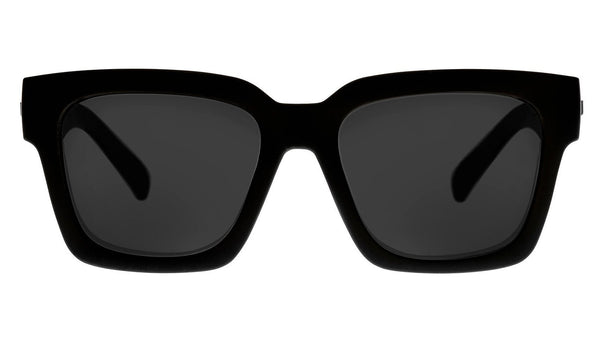 Le Specs Weekend Riot Black Rubber/Smoke Mono Polarised