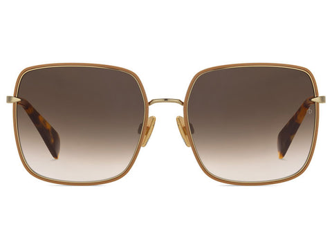 Rag & Bone 1032/S Gold/Beige/Brown Gradient