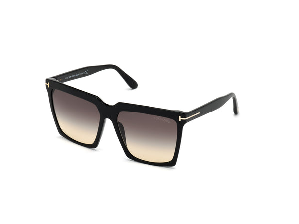 Tom Ford 0764 Sabrina Shiny Black/Smoke Gradient