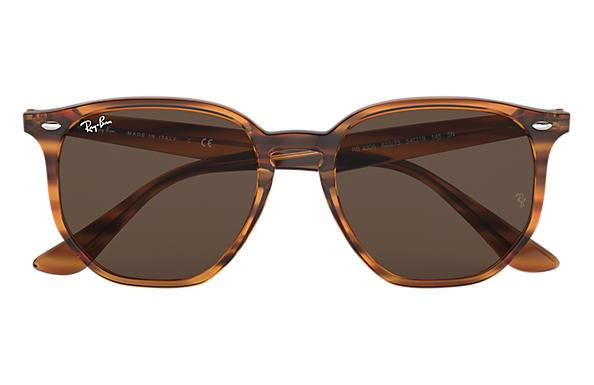 Ray Ban 4306 Striped Red Havana/ Dark Brown