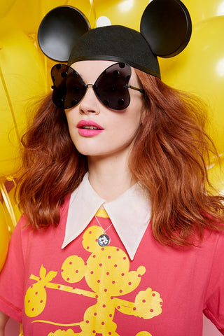 Disney x Karen Walker Minnie Bow Black Spot