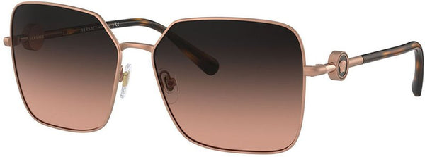 Versace 2227 Matte Pink Gold/Brown Gradient