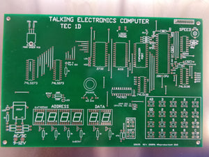 TEC-1D - Talking Electronics Z80 trainer computer - PCB only