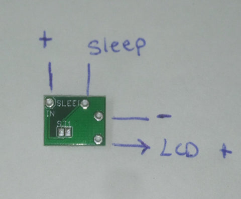 Backlit SP LCD (101) LED driver board