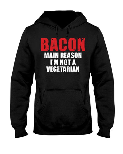 Bacon, The Main Reason I'm Not A Vegitarian | Grilling BBQ Hoodie Sweatshirts Fuel Black S