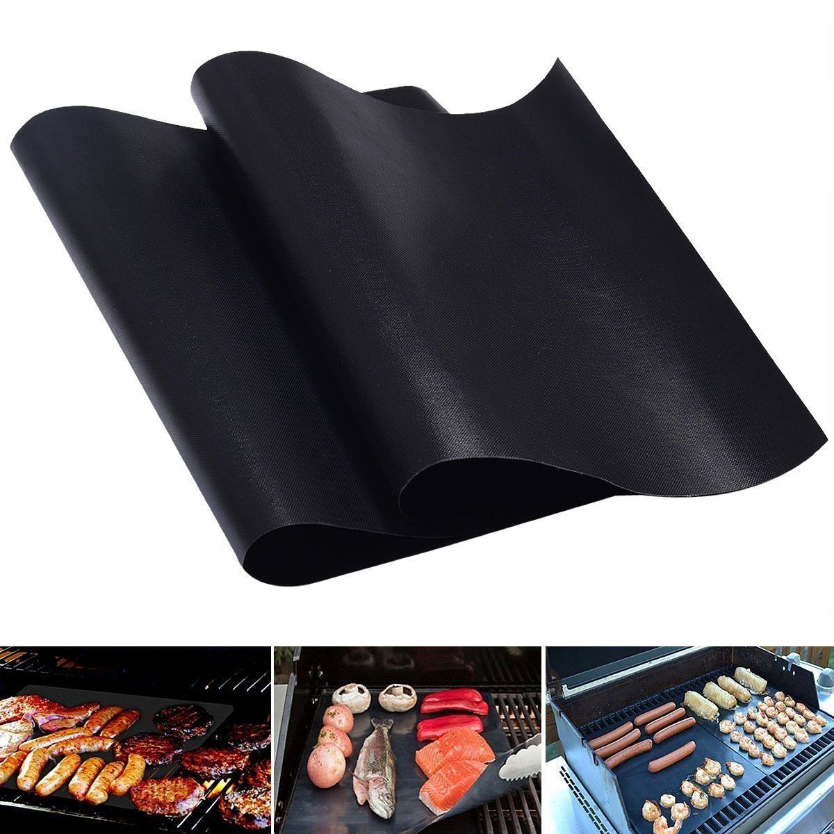 BBQ Grill Mats (2 Pack) BBQ Grilling & Smoking Accessory I Love Grilling Meat