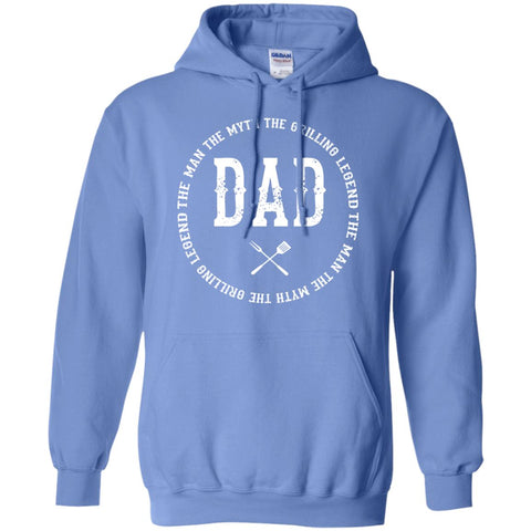DAD The Man The Myth The Grilling Legend Hoodie Sweatshirts CustomCat Carolina Blue S