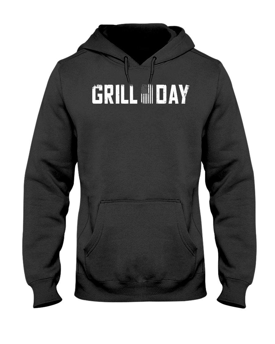 Grill Day Apparel Fuel Dark Colored Hoodie Black S