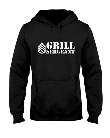 Grill Sergeant | Grilling BBQ Hoodie Apparel Fuel Black S