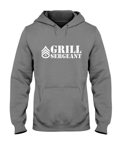 Grill Sergeant | Grilling BBQ Hoodie Apparel Fuel Charcoal S