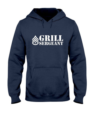 Grill Sergeant | Grilling BBQ Hoodie Apparel Fuel Navy S