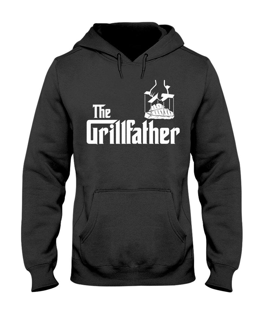 Grillfather Apparel Fuel Dark Colored Hoodie Black S
