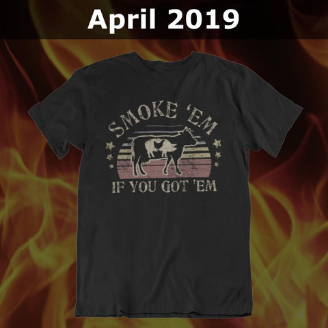 GSA T-Shirt of the Month Club with FREE American Pitmaster T-Shirt (SEMI-YEARLY) Membership GSA