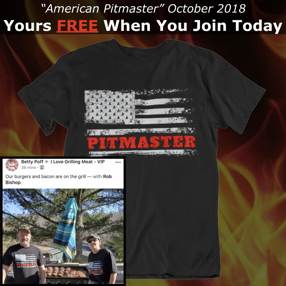 GSA T-Shirt of the Month Club with FREE American Pitmaster T-Shirt (SEMI-YEARLY) Membership GSA S