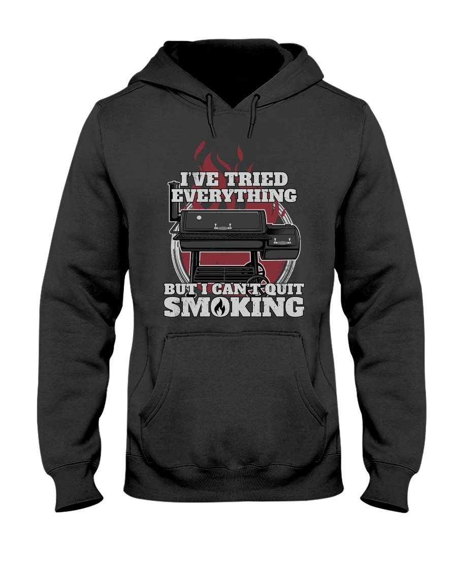 I Can't Quit Smoking Apparel Fuel Dark Colored Hoodie Black S
