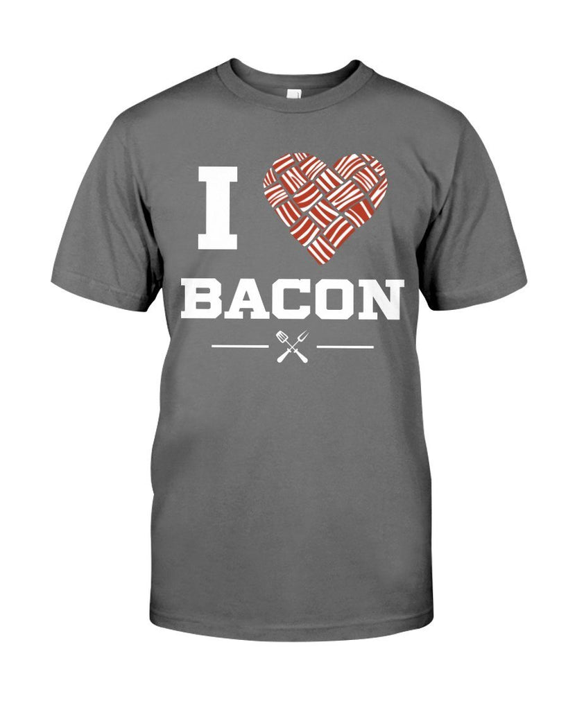 I Heart Bacon | Grilling BBQ T-Shirt Apparel Fuel Charcoal S