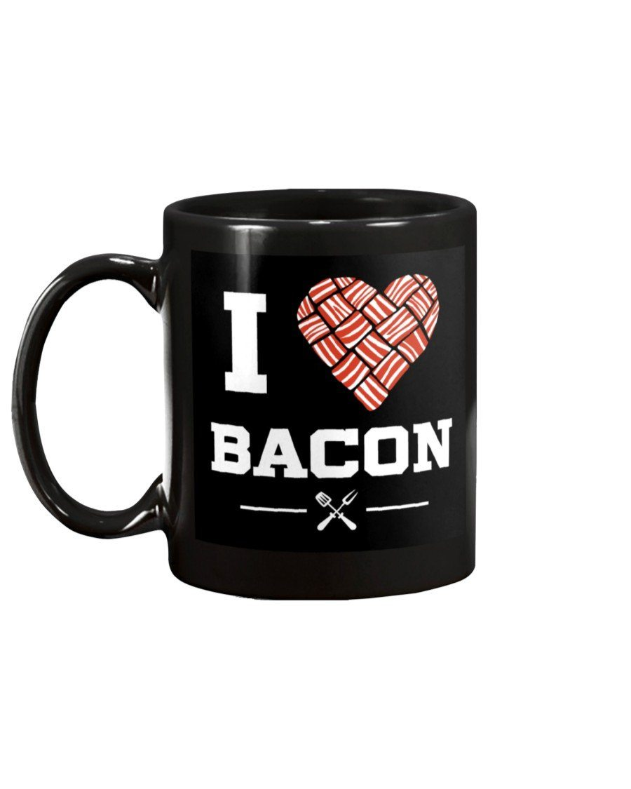 I Heart Bacon Mug1 Apparel Fuel 15oz Black Black 15Oz