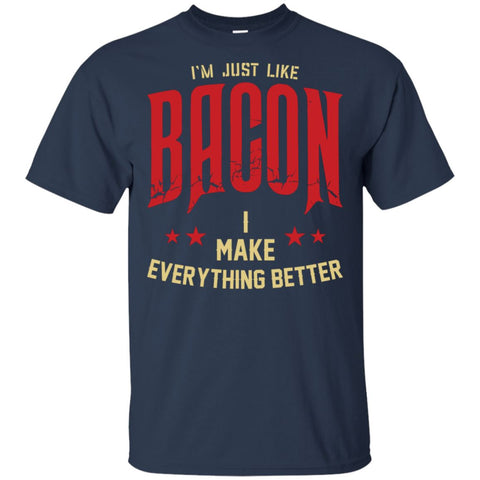 I'm Just Like Bacon T-Shirt T-Shirts ScalablePress Navy S