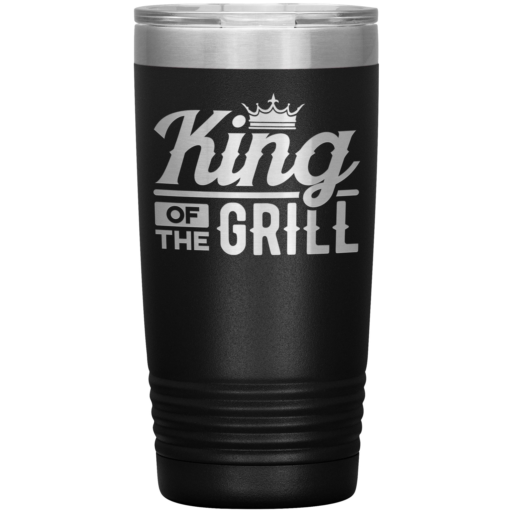 King of the Grill 20oz Tumbler Tumblers teelaunch Black