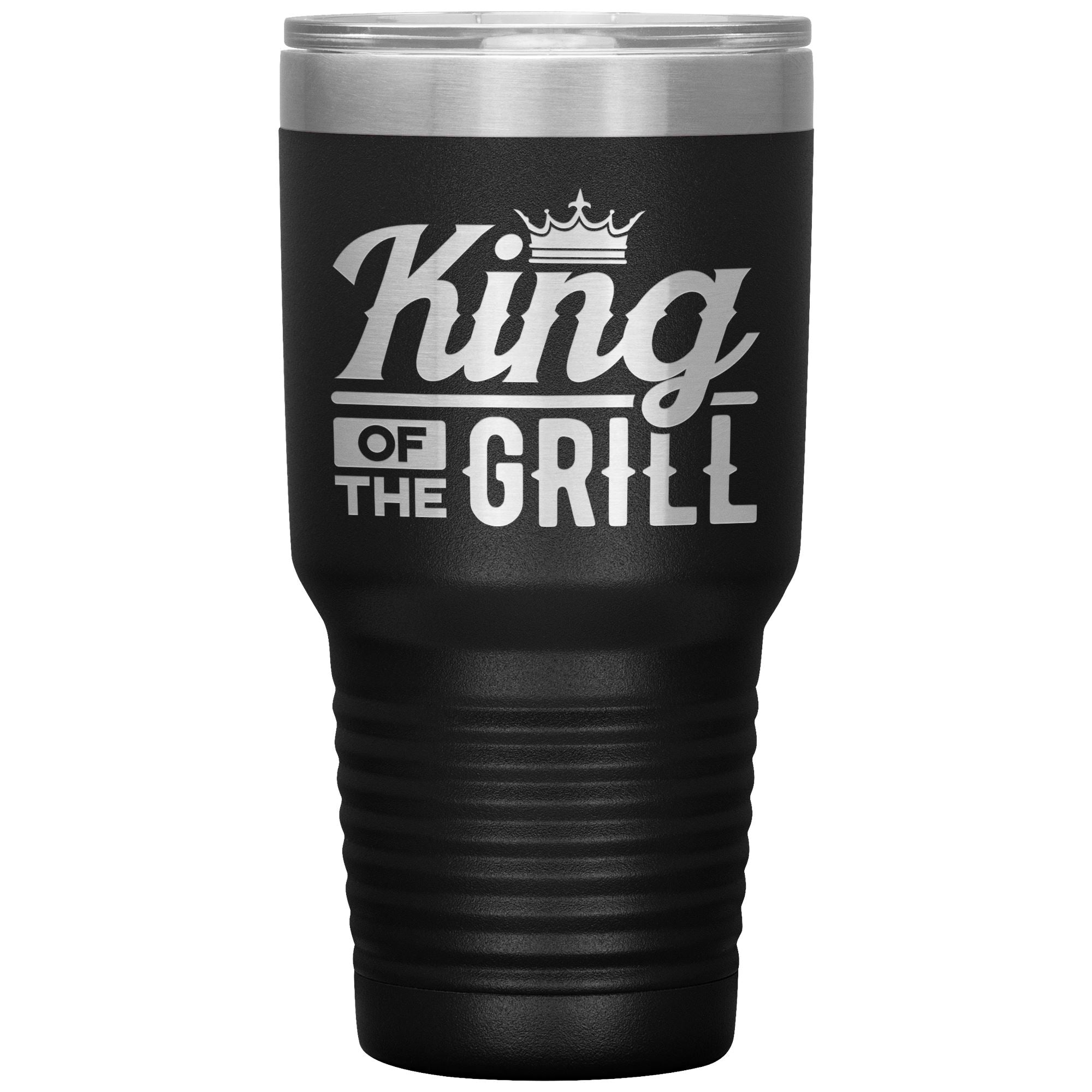King of the Grill 30oz Tumbler Tumblers teelaunch Black